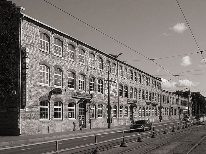 Historical building known as the plywood and furniture factory of Estonia